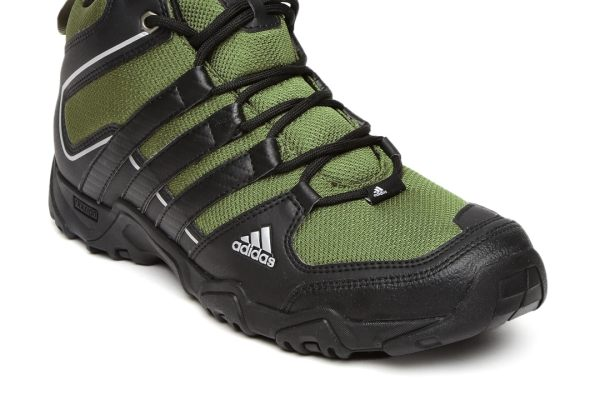 Adidas Men Olive Green & Black Aztor Mid-Top Hiking Shoes
