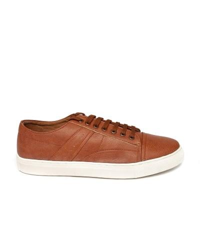 Carlton London Men Brown Solid Regular Sneakers