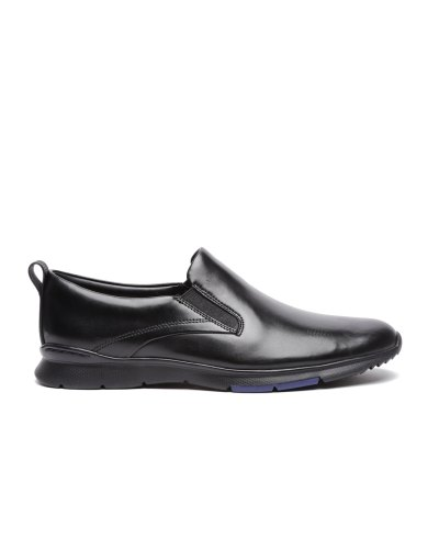Clarks Black Step Back Leather Slip-On Formal Shoes