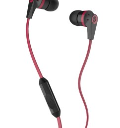 buy skullcandy black red ink d 2 earbuds with mic headphones for unisex 1369281 myntra [ 1080 x 1440 Pixel ]