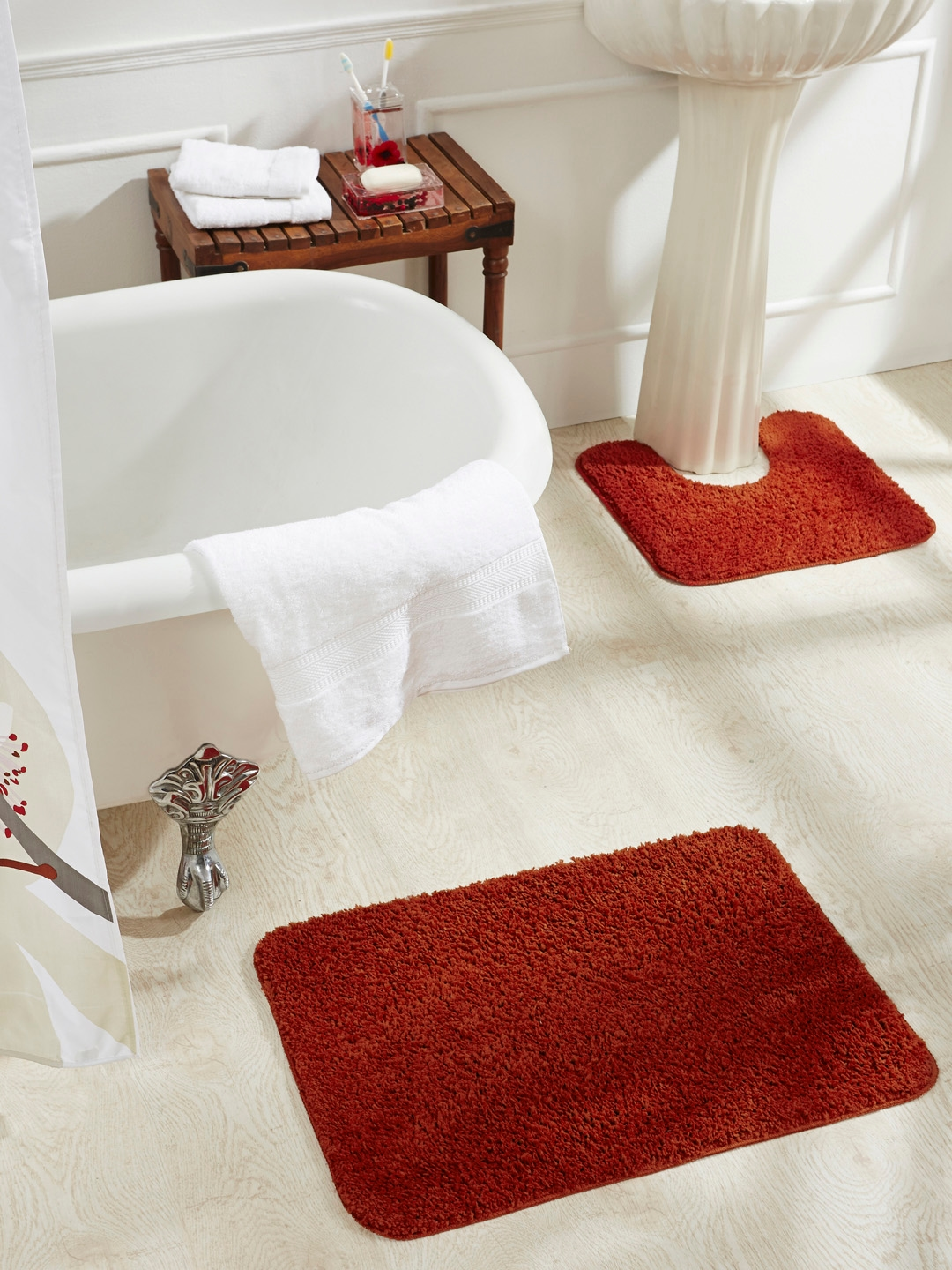 Red Bathroom Rug Buy Obsession Red Set Of 2 Rectangular Bath Rugs Bath Rugs For