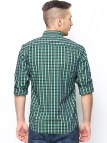 Myntra Jade Blue Men Green & Checked Tailored Fit