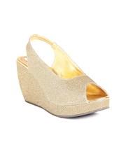 Do Bhai Women Gold-toned Wedges