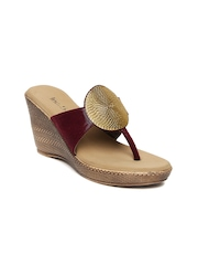 Inc.5 Women Maroon Sandals