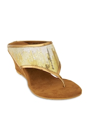 Lords Women Gold Toned Sandals
