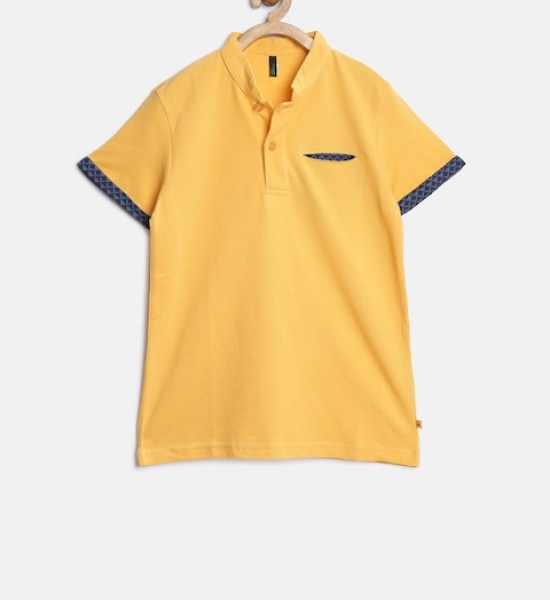 United Colors of Benetton Boys Yellow Polo T-shirt