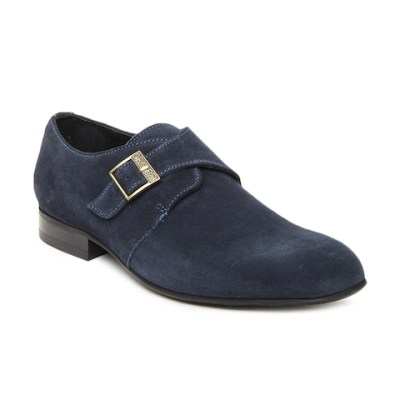 Ruosh Men Blue Suede Formal Shoes