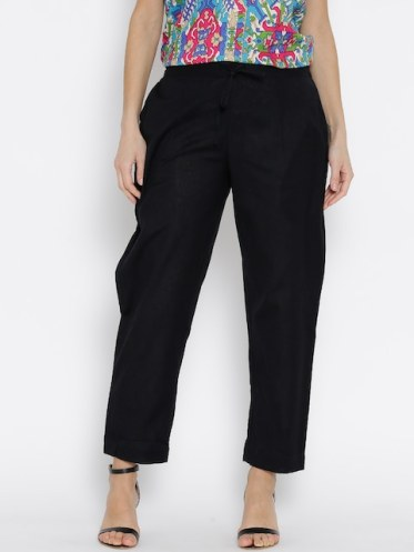 Image result for images of black ankle trouser for women