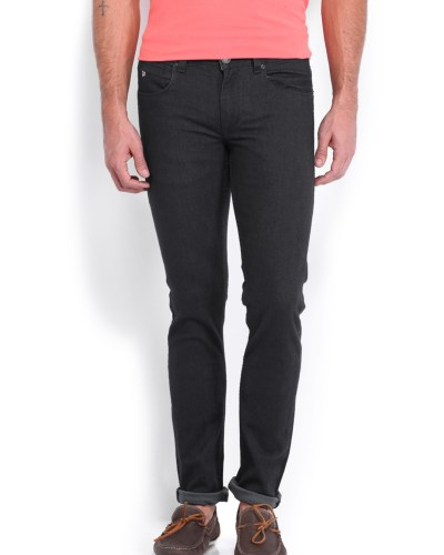 U.S. Polo Assn. Men Charcoal Grey Skinny Fit Jeans