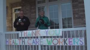 Cobourg residents cheer for health care workers