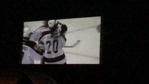 Hockey under the stars: Petes host screening of 2006 OHL Championship at Lindsay drive-in theatre.