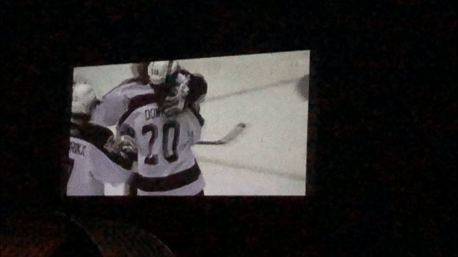 Click to play video: Hockey under the stars: Petes host screening of 2006 OHL Championship at Lindsay drive-in theatre.