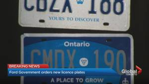 Ford government orders new licence plates