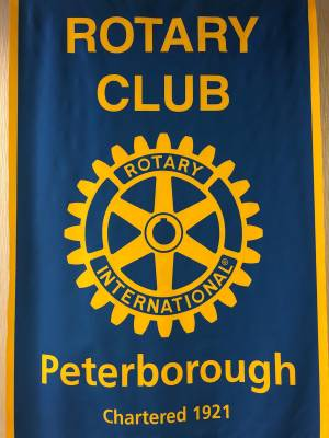 Peterborough Mayor Diane Therrien and Peterborough County Warden J. Murray Jones speak to the Rotary Club of Peterborough on Monday for a state of the union address.
