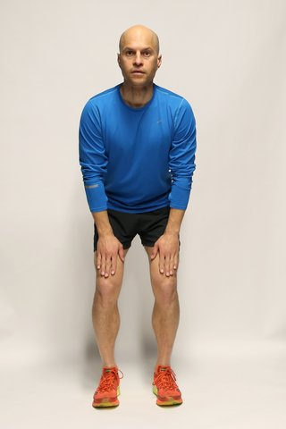 cardio workout Rocket jump-starting position