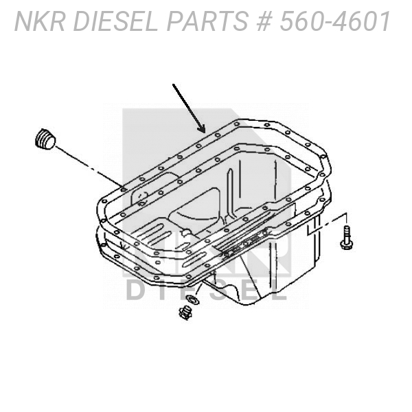 Gasket Oil Pan For ISUZU NQR 4BD2 4BD1 3.9L 86-98 New OEM