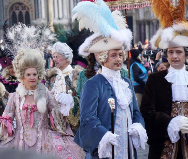 Flight Of The Angel Event That Marks The Official Opening Of The Celebrations Of The Venice Carnival At St Marks Square