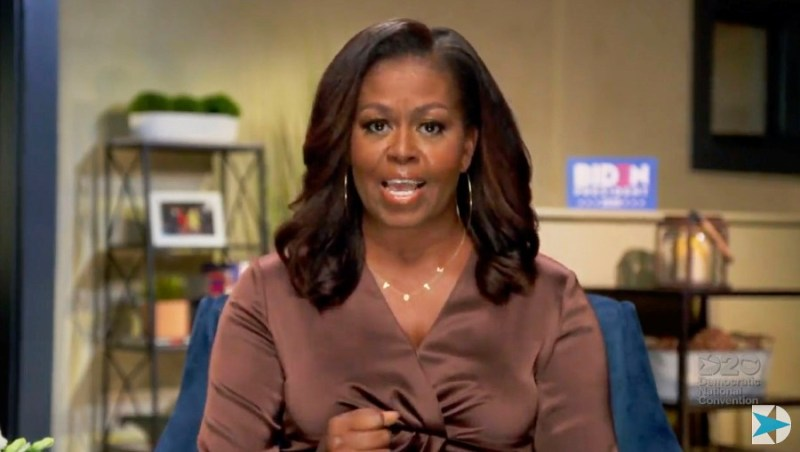 This image grab made on August 17, 2020 from the online broadcast of the Democratic National Convention, being held virtually amid the novel coronavirus pandemic, shows former First Lady Michelle Obama speaking during the opening night of the convention. - -AFP pic/ Democratic National Convention