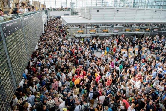 Image result for Munich airport cancels 200 flights after intruder alert