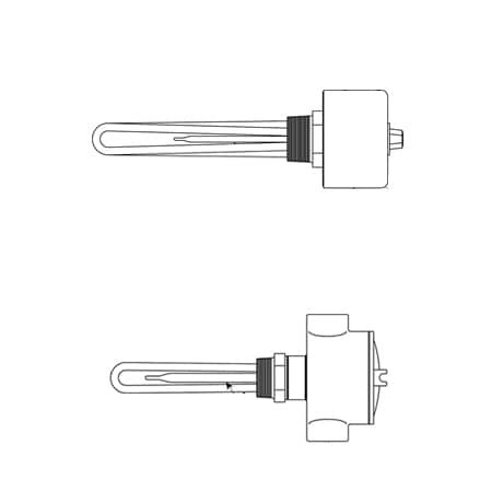 Lightweight Oil Immersion Heater with Integral Thermostat