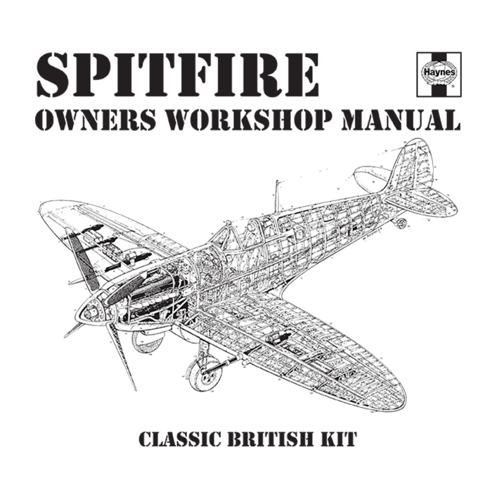 (X-Large, White) Haynes Owners Workshop Manual Spitfire