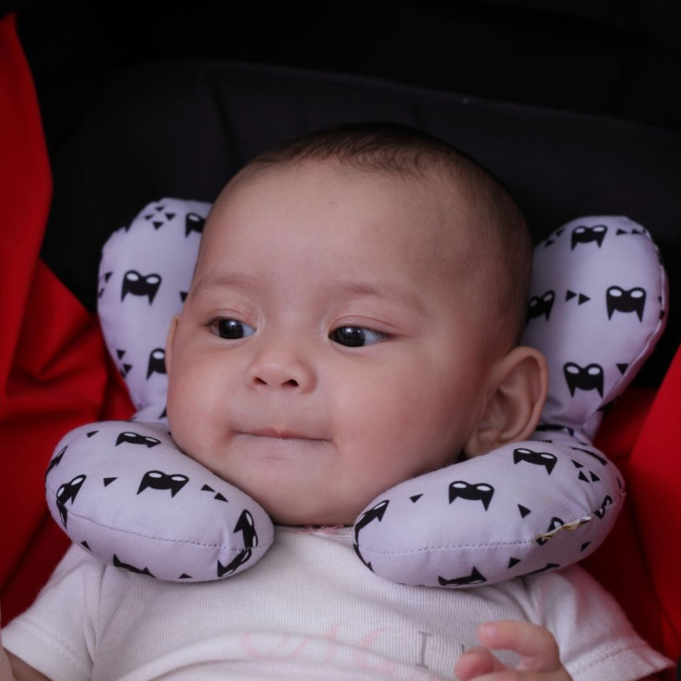baby travel pillow pushchair grey for 0