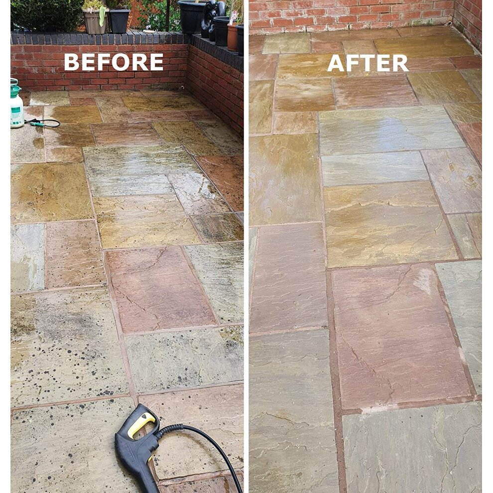 sodium hypochlorite 14 15 high strength patio block paving driveway cleaner algae weed moss mould blackspot lichen killer remover