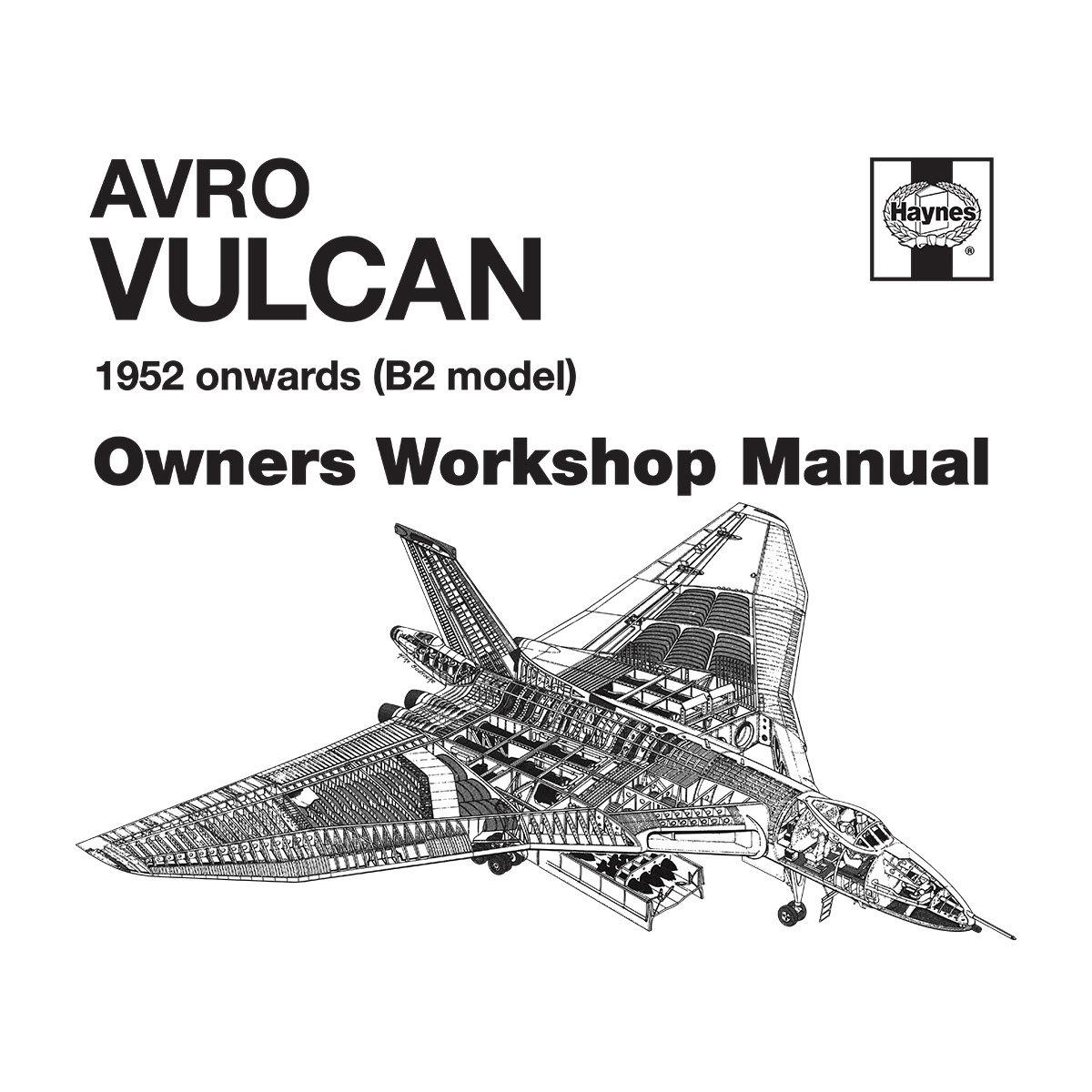 (Medium, White) Haynes Owners Workshop Manual Avro Vulcan