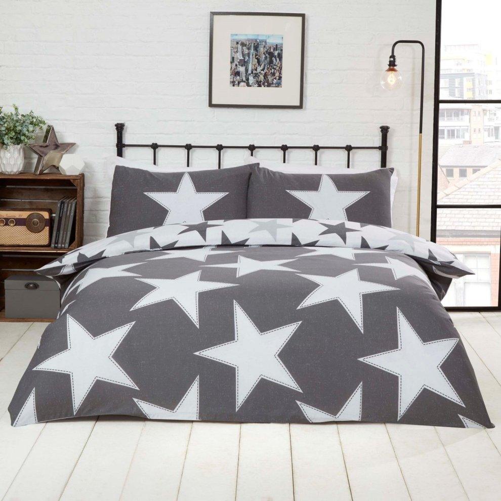 all stars duvet cover set etoile teenager boys quilt kids bed linen bedding set red single