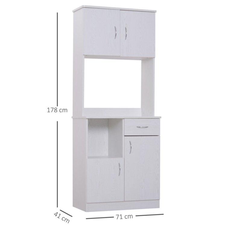 Homcom Freestanding Kitchen Cupbaord Cabinet Storage Pantry Organiser On Onbuy