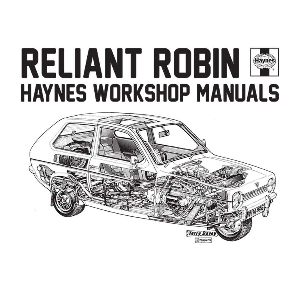 (Medium, White) Haynes Workshop Manual Reliant Robin Black