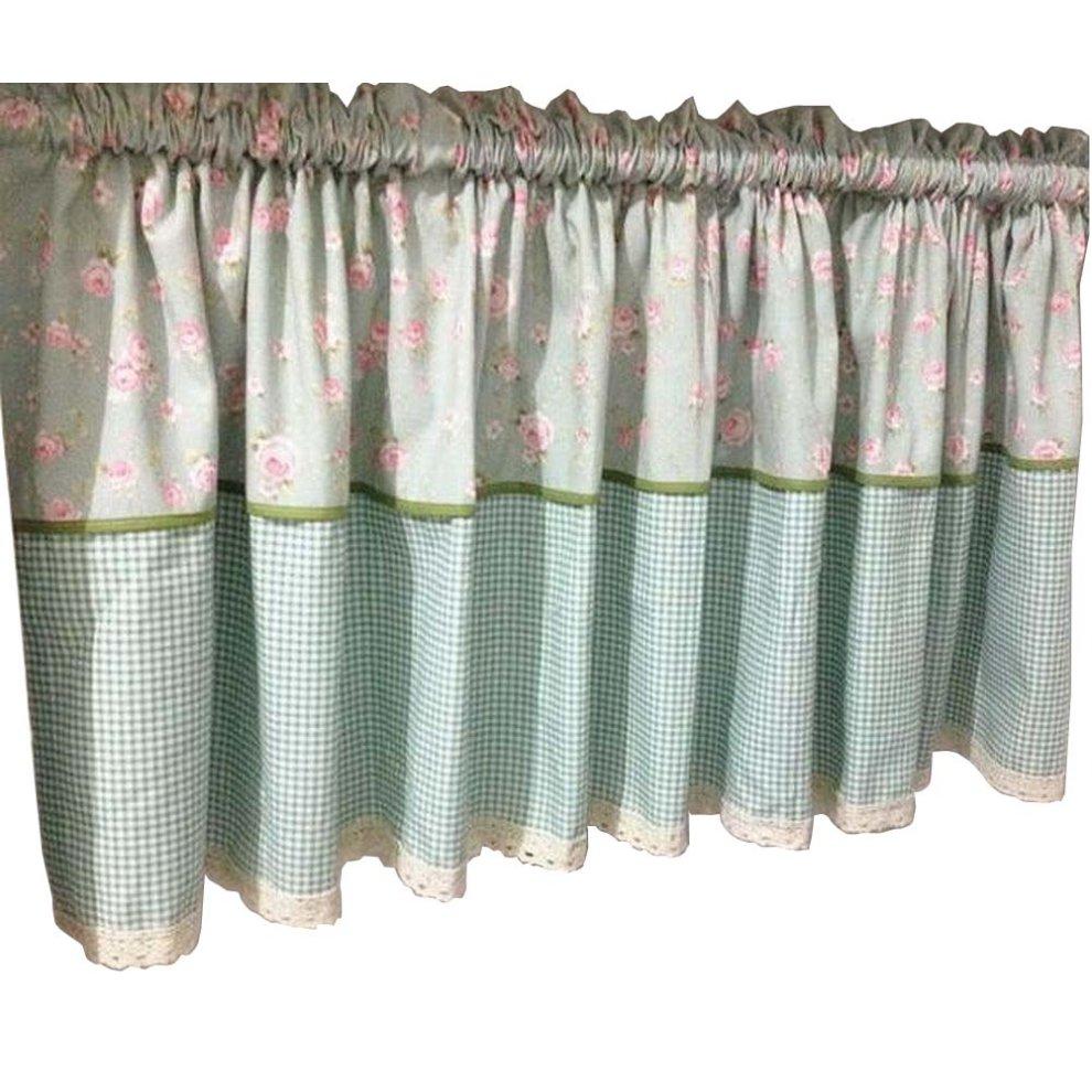 b pastoral style kitchen tier curtain short window curtain cafe curtain
