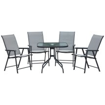 outsunny 5pcs classic outdoor dining
