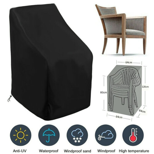 strong waterproof stacking high back chairs cover garden furniture covers