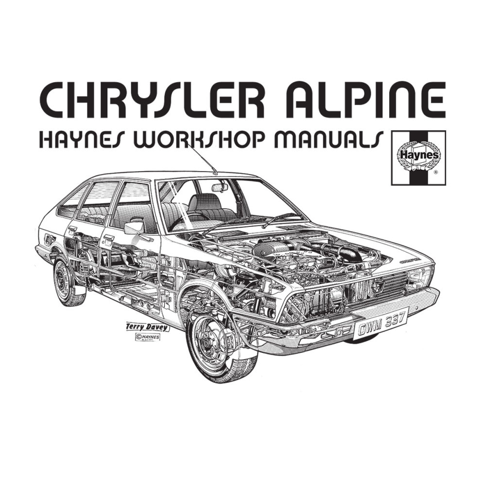 (Large, White) Haynes Workshop Manual 0337 Chrysler Alpine