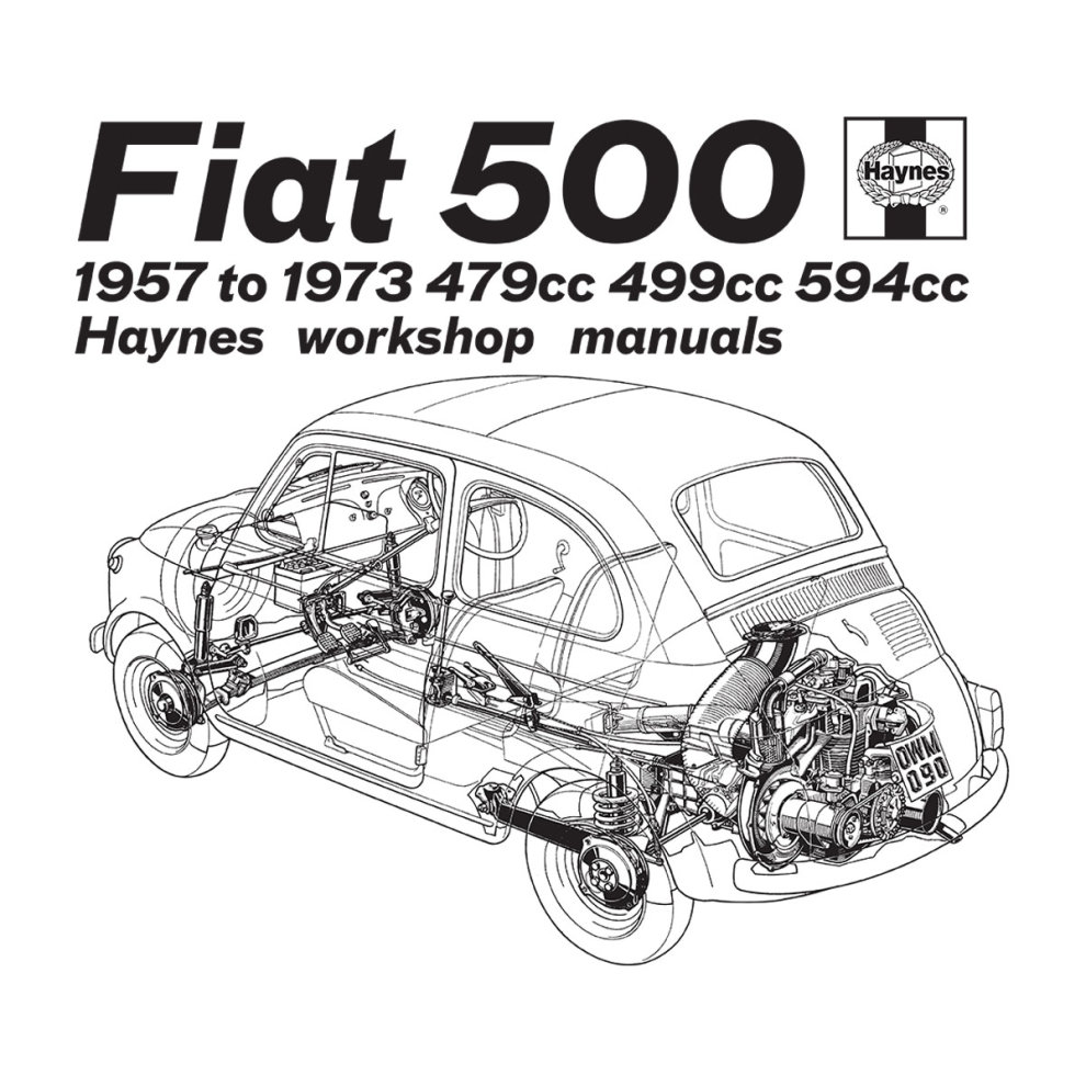 (Small, White) Haynes Workshop Manual Fiat 500 Black Women