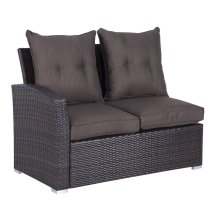 outsunny 5pcs rattan garden furniture