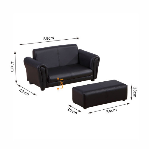 homcom kids sofa 2 seater childrens armchair furniture bedroom playroom