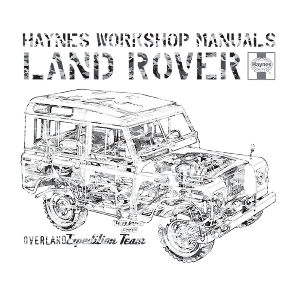(Medium, White) Haynes Workshop Manual Land Rover Camo