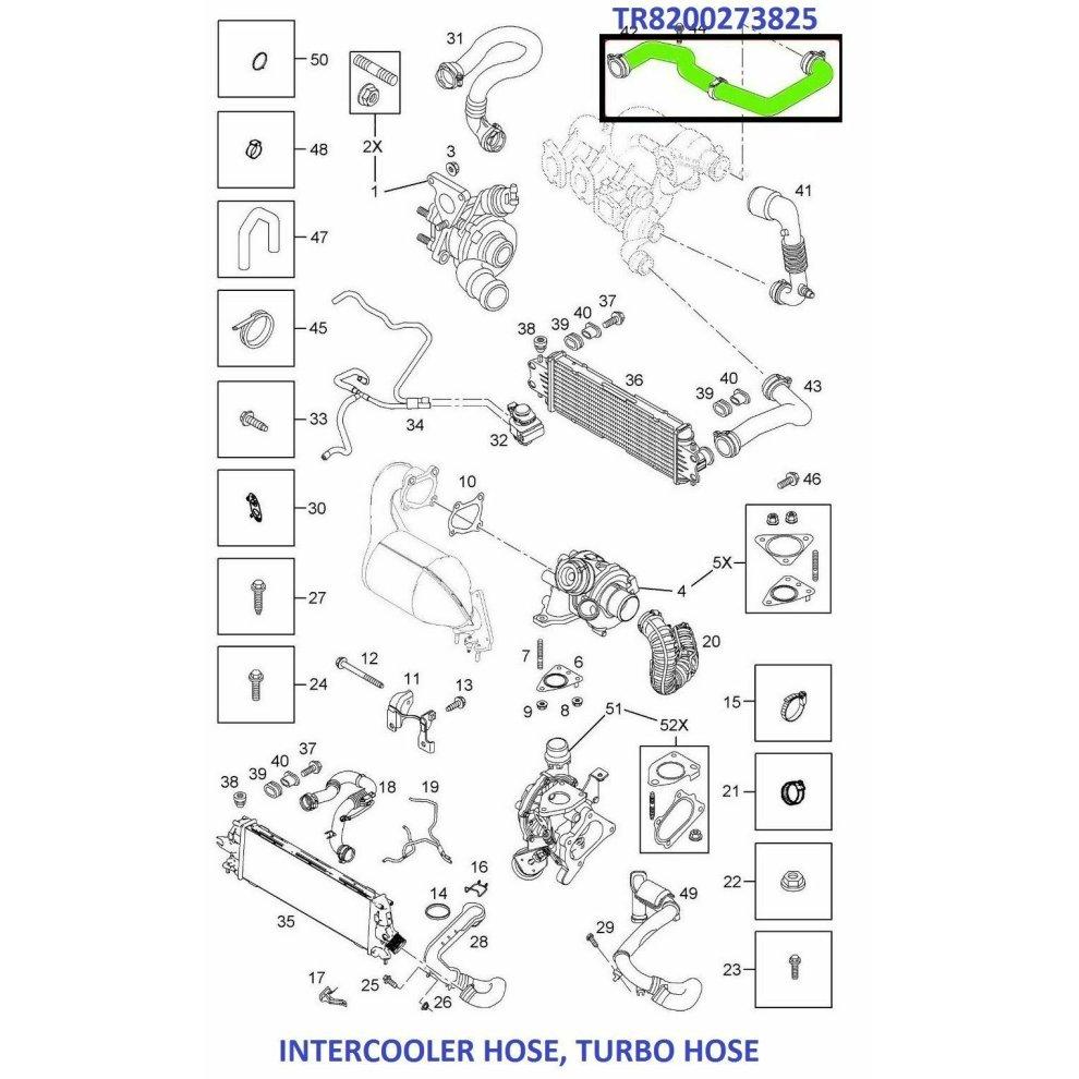 INTERCOOLER TURBO HOSE PIPE FOR RENAULT TRAFIC VIVARO