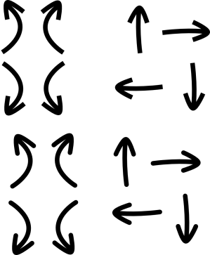 arrow clip arrows clipart direction turn cliparts simple vector directional north turning svg left right library onlinelabels graphic down computer