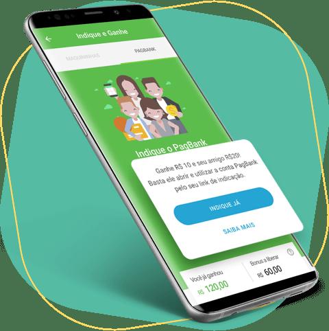 Indique a conta digital do PagBank e ganhe