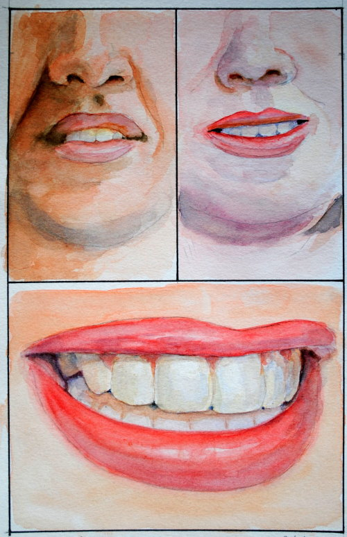 How To Paint Teeth : paint, teeth, Watercolor, Portrait, Painting, Course