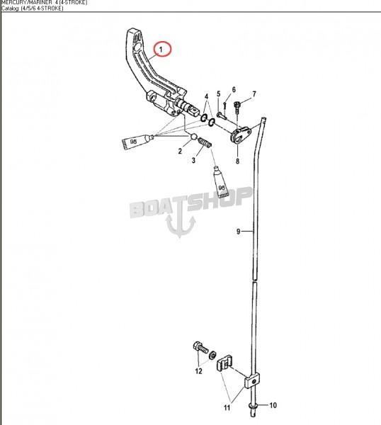 Dźwignia Rączka Zmiany Biegów Mercury / Mariner / Tohatsu