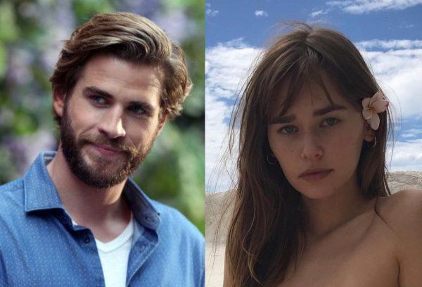 """Liam Hemsworth em """"Não é Tão Romântico"""" e Gabriella Brooks em foto publicada no Instagram (Reprodução)"""