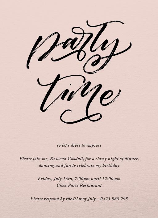 25th birthday invitations customize