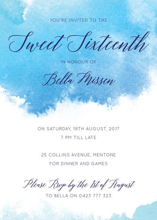 15th birthday invitations designs by