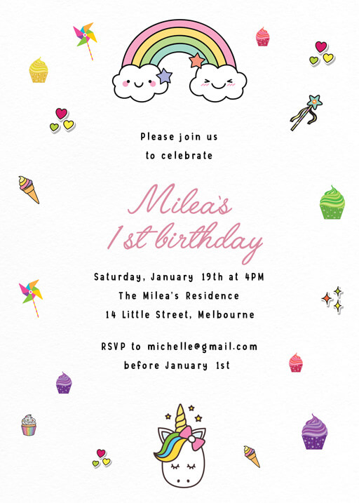 2nd birthday invitations designs by