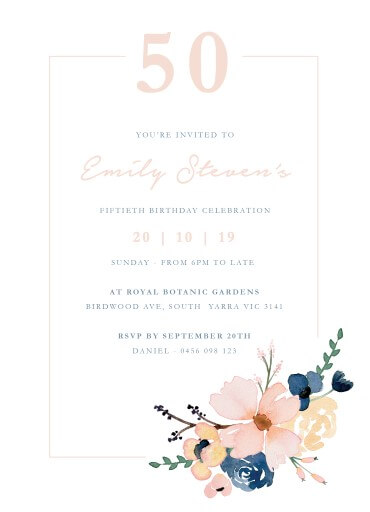 birthday party invitations customize