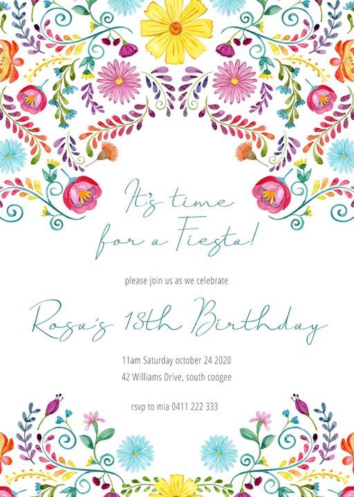 11th birthday invitations designs by